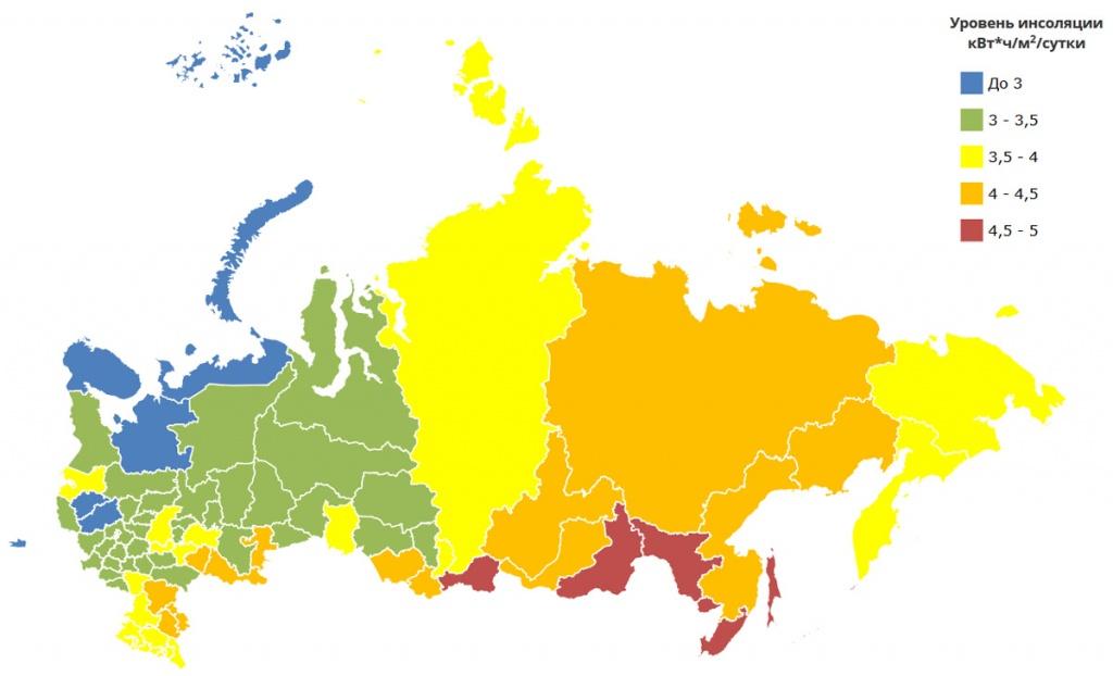 Мощность солнечного излучения на квадратный метр
